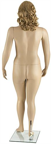 Fiberglass Plus Size Mannequin with Long Blonde Wig