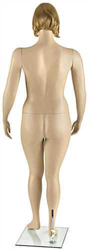 Pivoting Plus Size Mannequin with Short Blonde Wig