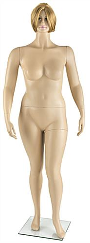 Proportional Plus Size Mannequin with Short Blonde Wig