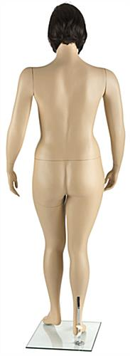 Pivoting Plus Size Mannequin with Short Brown Wig