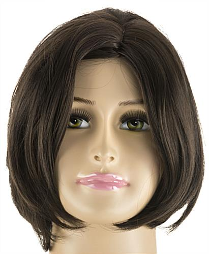 Plus Size Mannequin with Short Brown Wig & Painted Facial Features