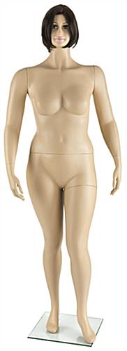 Full Body Plus Size Mannequin with Short Brown Wig