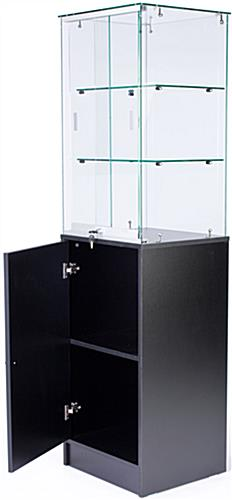 Glass Cabinet With Frameless Design