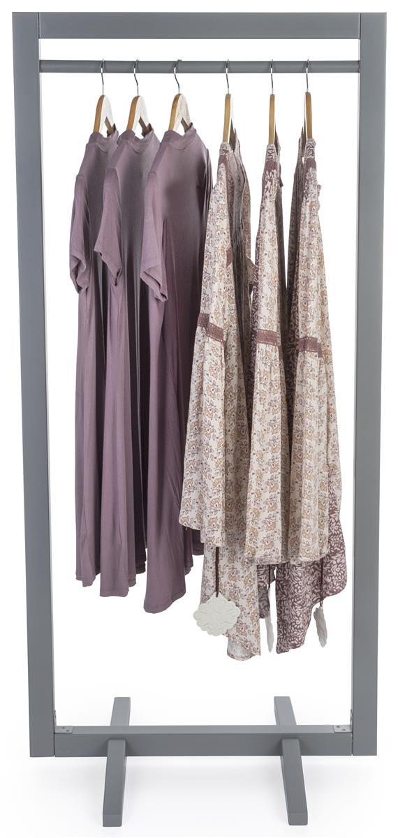 minimal boho wood clothing stand