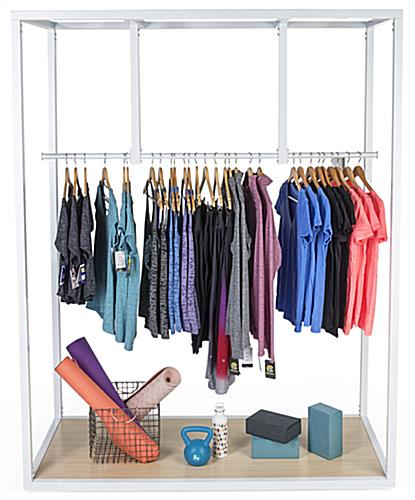 Steel boutique floor clothing hanger display