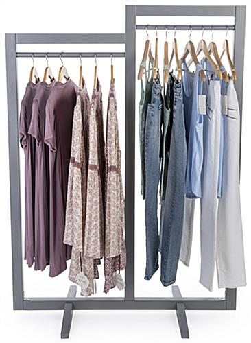 Gray Box Frame Clothing Hanger Stands