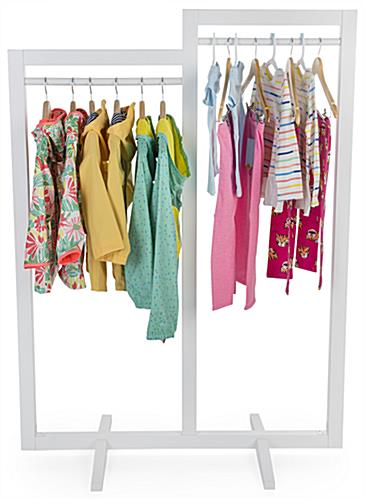 Double-sided modern cottage double carry clothing rack