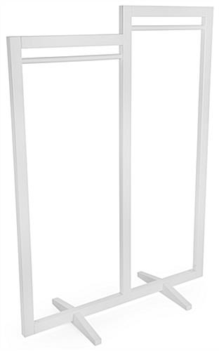 White modern cottage double carry clothing rack