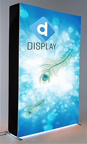 Double-sided LED SEG graphic light box with attention grabbing lit display