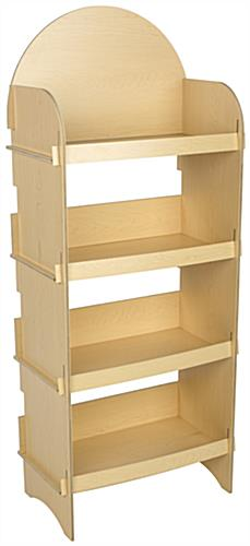 Easy Assembly Four Shelf Wooden Display