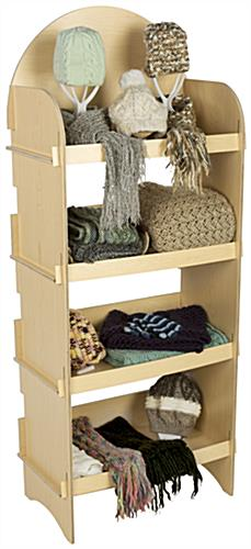 Freestanding Four Shelf Wooden Display