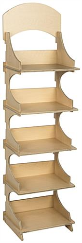 Knock Down Five Shelf Wooden Display