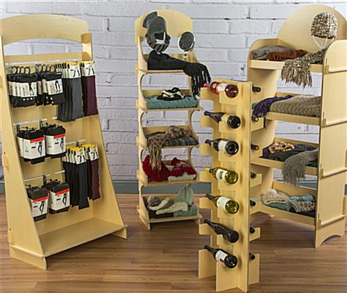 Five Shelf Wooden Display Stores Flat