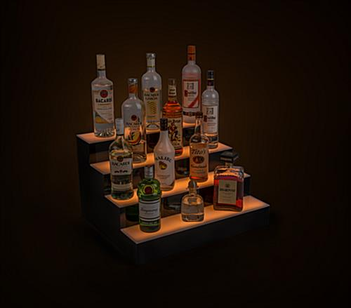 LED lighted liquor display runs for up to 12 hours on one charge