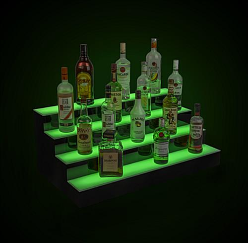 LED illuminated bar shelving with 12 hour battery life