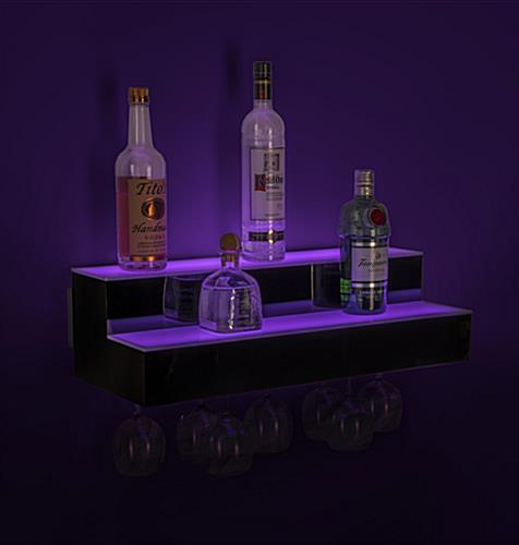 lighted bar shelf bottle glorifier with 12 hour battery life