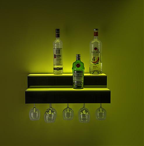 soft glow lighted bar shelf bottle glorifier