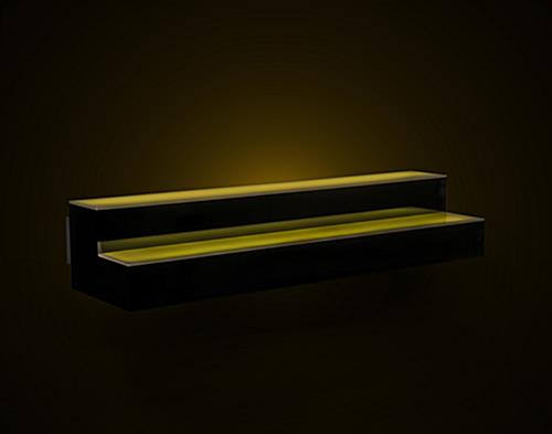 color changing LED illuminated liquor shelves