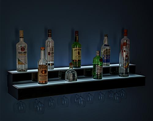 tiered LED liquor speed rack with lithium ion battery