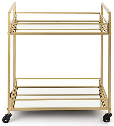 French trolley bar cart with durable iron metal construction