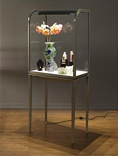 Toplights Curved Front Jewelry Display Cabinet