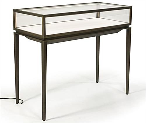 Tempered Glass Modern Jewelry Display Table