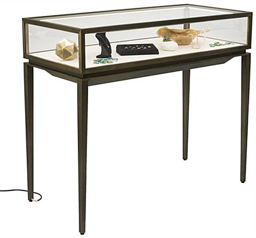 Modern Jewelry Display Table with Pull-Out Deck