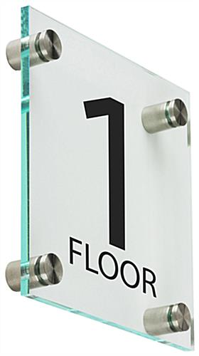 Elevator Floor Number Signs with Standoffs