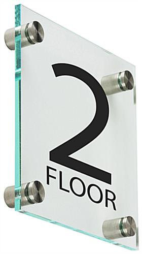 Elevator Floor Number Signs, Clear
