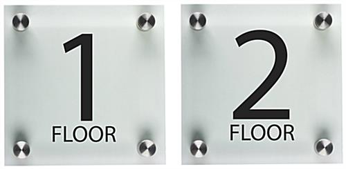 Elevator floor number signs set of 2 different levels for Floor number sign