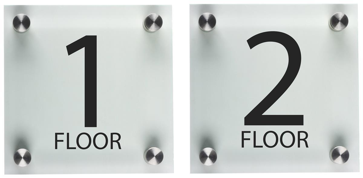Elevator Floor Number Signs Set Of 2 Different Levels