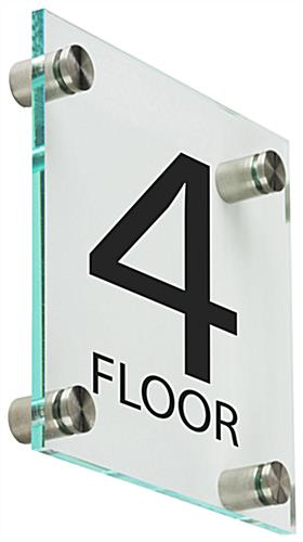 Stairwell Floor Level Signs with Standoffs