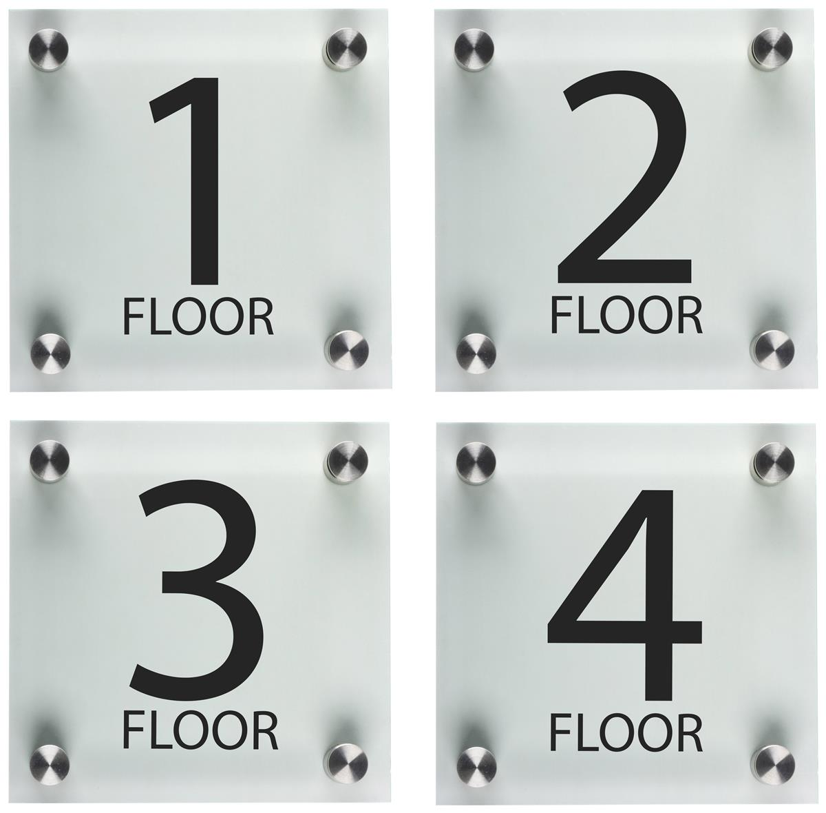 Stairwell Floor Level Signs 6 Quot X 6 Quot Acrylic Panels