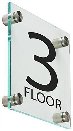Floor Level Signage, Clear
