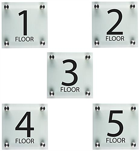 Floor Level Signage, Set of 5