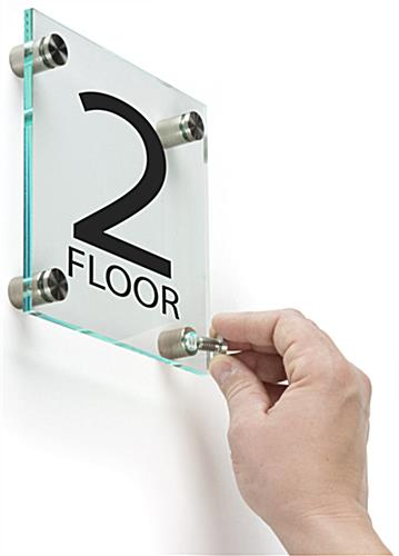 Floor Level Sign, Wall Mounted
