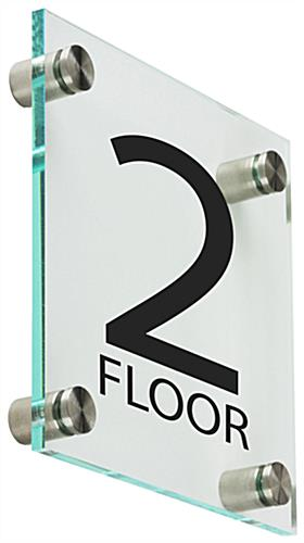 Floor Level Sign, Acrylic