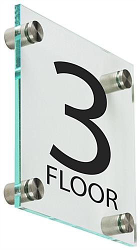 Acrylic Floor Level Sign, Clear