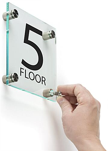 Office Floor Number Sign, Wall Mounted