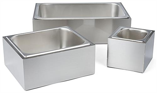 Stainless steel ice holder housing available in three great sizes