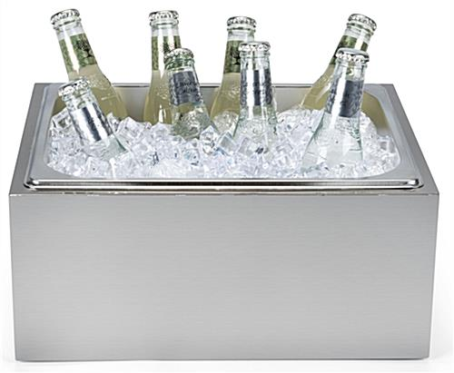 Countertop ice bin with weight capacity of 26 pounds
