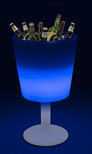 LED party bucket with ample beverage storage
