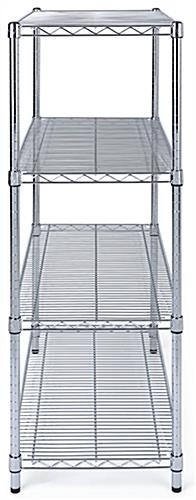 Free standing wire shelving have protective plastic feet