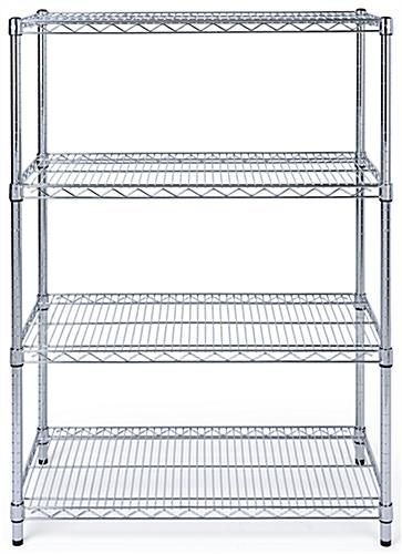 Free standing wire shelving with commercial grade steel