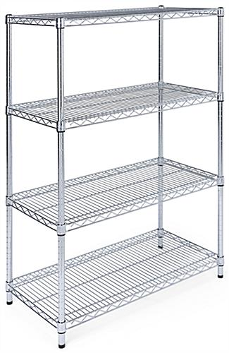Free Standing Wire Shelving with four heavy-duty levels