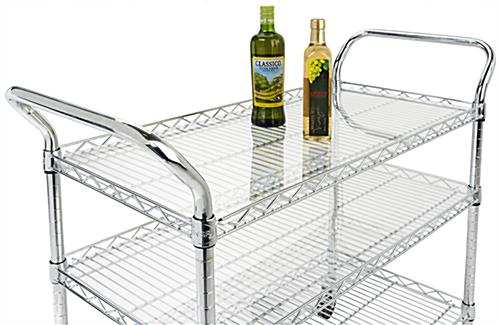 17.5 x 35.5 acrylic wire cart liners can increase the weight capacity of each tier