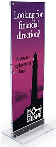 Large Printed Vertical Sign with Acrylic Frame