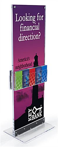 Large Printed Vertical Graphic with Storage & Adjustable Pockets