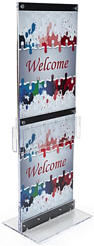 Custom Graphic with Brochure Holders& Acrylic Construction