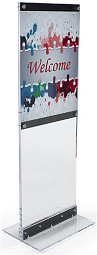 Floor-Standing Acrylic Graphic Holder with Removable Poster Dividers